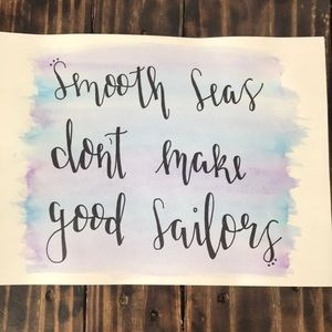 Neck Deep watercolor handlettered quote
